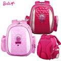 Barbie niños/niños bolsas escuela de dibujos animados cartera primaria ortopédica mochila para niñas mochilas/bolsas de estudiante trasera dura grado 1-2