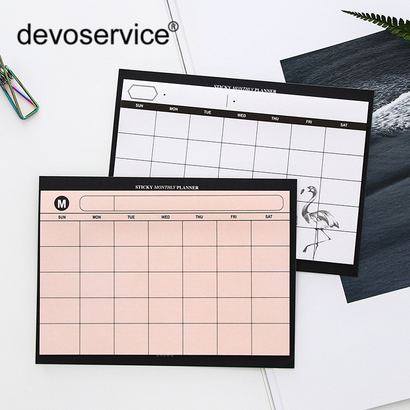 Creative Desktop Schedule Tearable Note Book Diary Plan Notebook Paper Stationery Student Diary Memos Office Supplies Wholesale