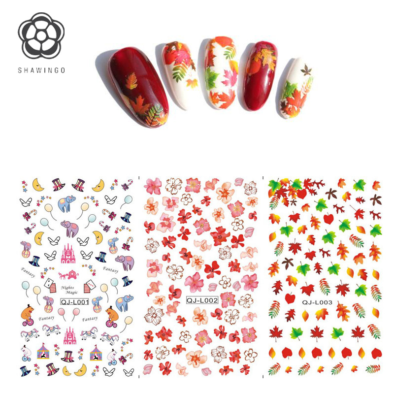 Harajuku Japanese Nail Stickers Water Transfer Nail Art Sticker ...