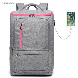 f711db020d FANLOSN Nylon Men Women Backpack For Notebook Travel