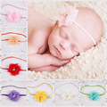 2015 Infant Baby Girls lace  Flower Headbands Photography Props Newborn rhinestone  Baby Headband girls Accessorie retail