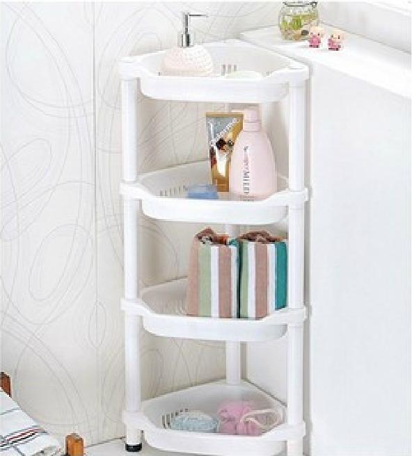 Itemship Thick durable floor four corner shelf bathroom racks ...