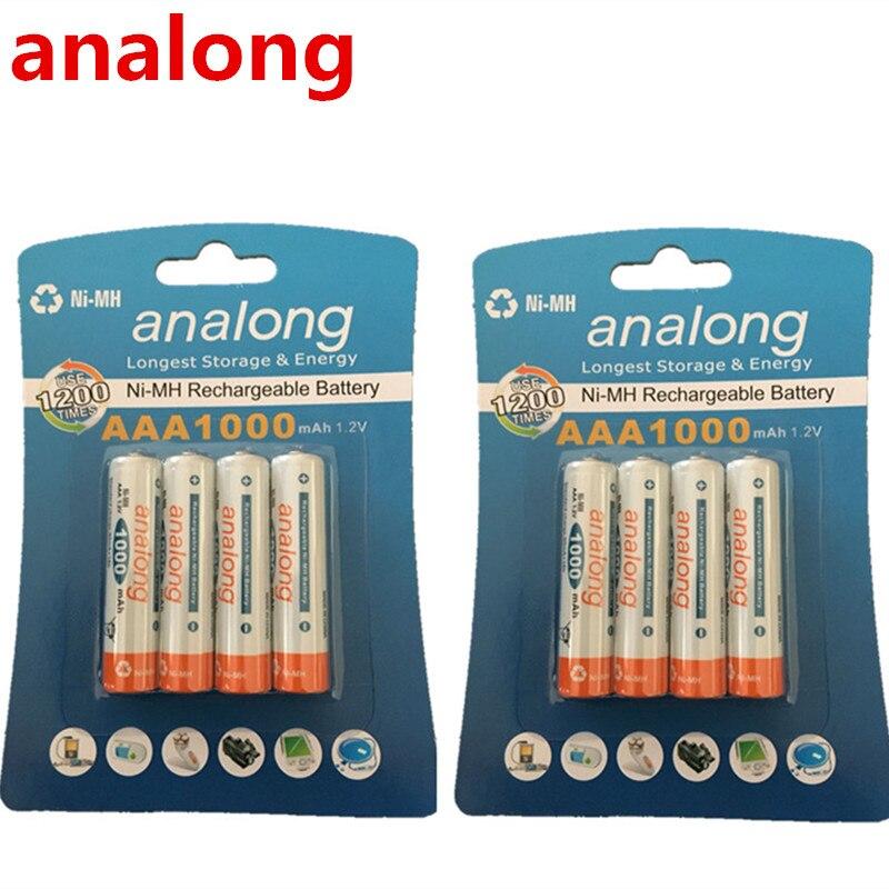 Analong 1,2 V AAA NIMH аккумуляторная батарея в 1000mAh емкости
