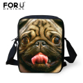 FORUDESIGNS Designer Women Messenger Bags,Skull Crossbody Bags for Women,Pug Dog Woman Shoulder Bag Horse Handbags High Quality