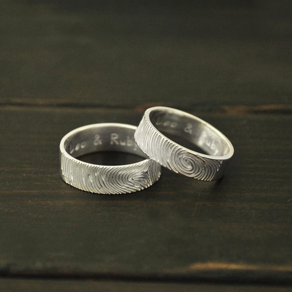 Personalized Fingerprint Ring,Actual Fingerpring Ring for ...