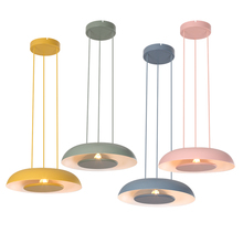 Nordic Iron Loft  Art Deco Macarons LED Chandelier Bedroom Living Room Study Pendant Lamp Lighting  Hanglamp Lamp Light Fixtures diy american country creative iron pendant light led lamp iron metal hanging lamp nordic designer light art deco lighting abajur