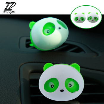 ZD 1Pair Car Outlet Perfume Panda outlet perfume for VW polo passat b6 b5 Lada granta vesta Mazda 3 6 Renault duster accessories image