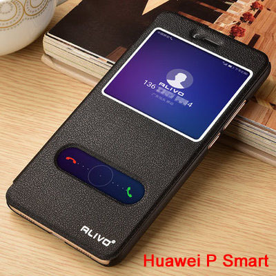 best website 3ec26 9ab92 US $6.99 |Alivo For Huawei P Smart Cover Open Window Luxury PU Leather Flip  Cover Case for Huawei PSmart Back Case with Kickstand #VA-in Flip Cases ...