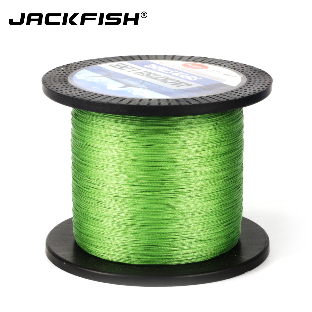 JACKFISH  500M 8 strand Smoother PE Braided Fishing Line 10-80LB Multifilament Fishing Line Carp Fishing Saltwater with gift dagezi super strong 4 strand 300m 330yds 100% pe braided fishing line 10 80lb multifilament fishing line carp fishing saltwater