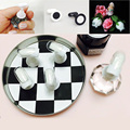 10 Pcs Luxury Salon  Chess Board Magnetic Nail Tip Crystal Stand Set #88191
