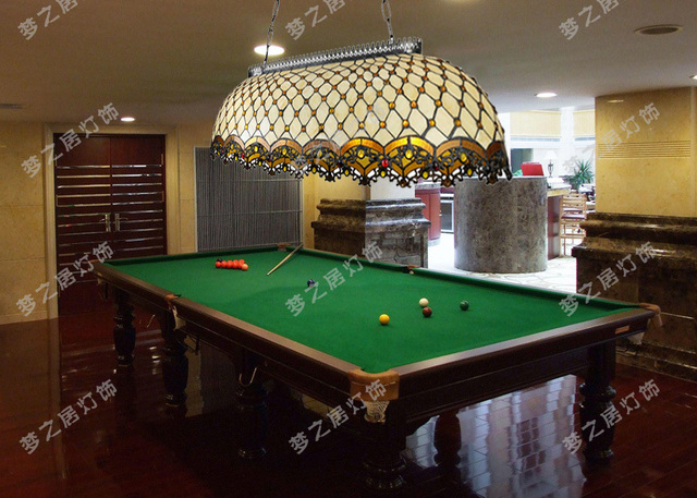 Continental Tiffany Billiards Pool Hall Lighting Stained Gl Chandelier Tq04 Restaurant Engineering Lodge Cradle