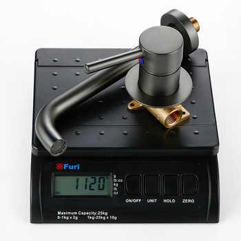 Wall Mounted Gunmetal Basin Faucet Single Handle Mixer Tap Hot Cold Bathroom Water Wholesale Bath Black White Rose Gold Faucet