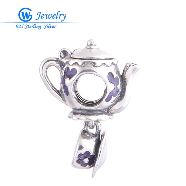 Novo 2016 moda prata esterlina 925 chaleira charme se encaixa pulseiras bangles pingente gw jóias s036