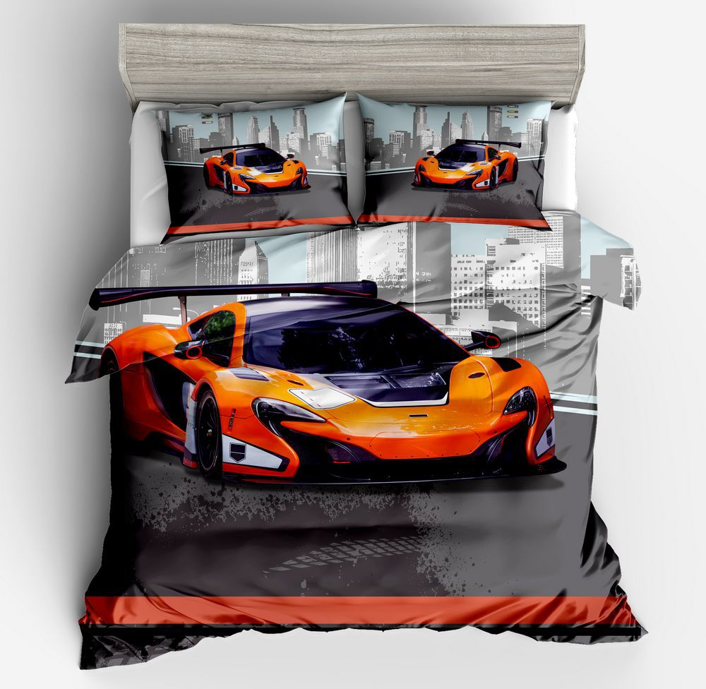 Racing Series Bedding Set Motorcycle Race Automobile race US Twin Full Queen King Size Duvet Cover Pillowcase 2/3 Pieces Set
