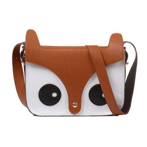 Fox Owl Shoulder Messenger Bag Pu Lëkurë Crossbody Satchel - Çanta dore