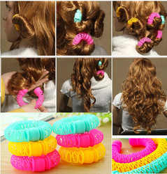 Magic Hair Curler Spiral Curls Roller Donuts Curl Hair Styling Tool Hair Accessories 8 Pcs /lot
