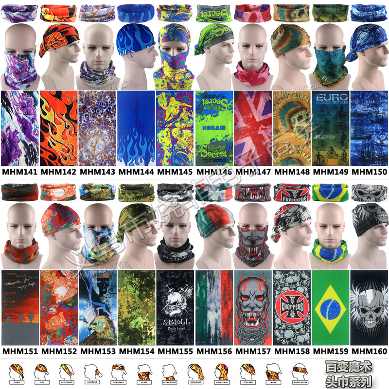 Bandana Cycling Scarf Outdoor Riding Scarf Mask Headgear Variety Cycling Magic Headband Bicycle Scarf Face Bandana Whalesale