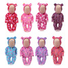 43 cm baby dolls Clothes new born bear Jumpsuits Baby doll cartoon Pajamas Dress Baby toys fit American 18 inch Girls doll zf3