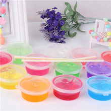 Colorful Clay Slime DIY Non-toxic Crystal Mud Play Transparent Magic Plasticine Kid Toys Hand Gum Plasticine Rubber Mud Playdoug(China)