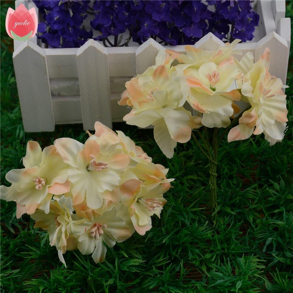 Aliexpress buy 12pcs 45cm cheap silk gradient artificial lily aliexpress buy 12pcs 45cm cheap silk gradient artificial lily flower bouquet for wedding home decoration diy wreath scrapbooking craft flower from izmirmasajfo