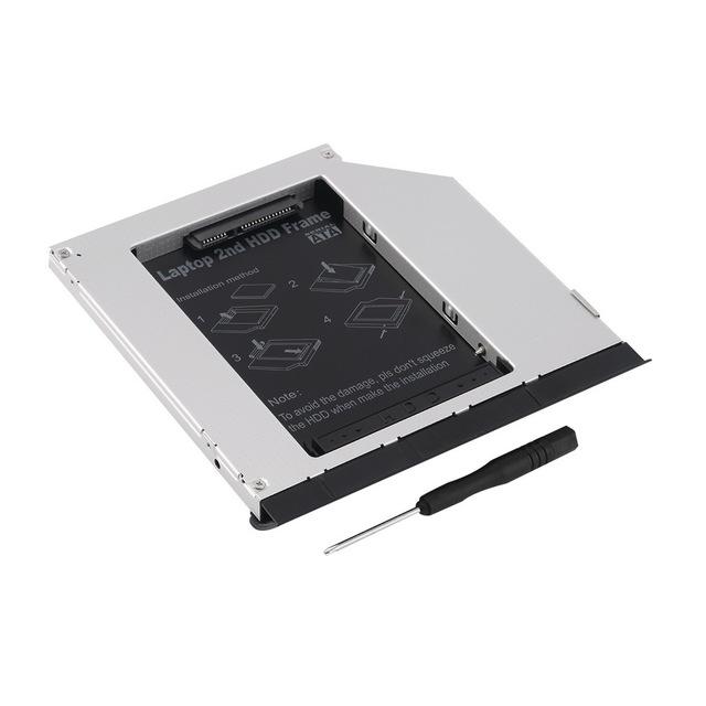 """1 unid 2.5 """"9.5mm segundo módulo sata hard drive caddy para dell e6320 e6420 e6520 e4300 e4310 más nuevo al por mayor tienda"""