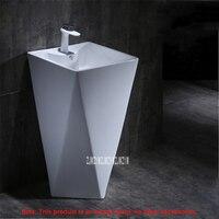 High quality Balcony Ceramic Basin Household Integral Pedestal Basin Modern Simplicity Floor standing Bathroom Washbasin 10020