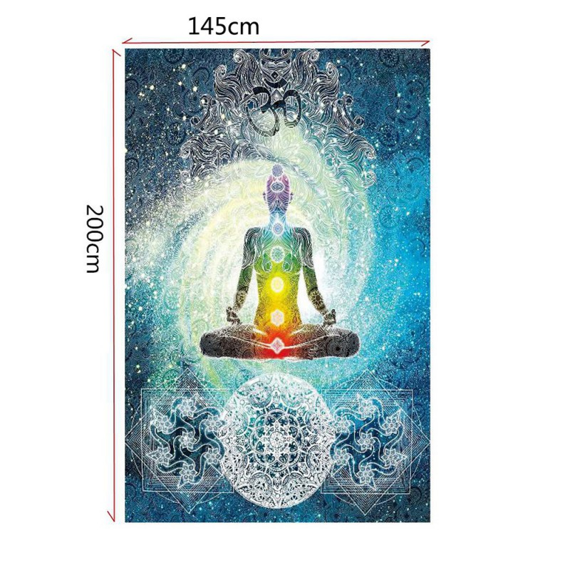 Tree Indian Buddha Wall Hanging Tapestry Yoga mats Home Room Decoration Home Textile