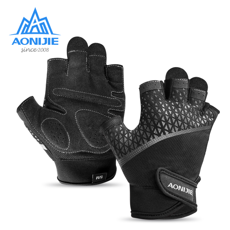 AONIJIE M52 Unisex Half Finger Sports Gloves For Running Jogging Hiking Cycling Bicycle Gym Fitness Weightlifting Nonslip