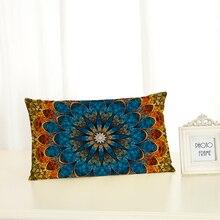 Персонализированные с геометрическим узором Чехлы для подушек Мода творчество украшения дома 30x50 декоративные бежевые льняные наволочки