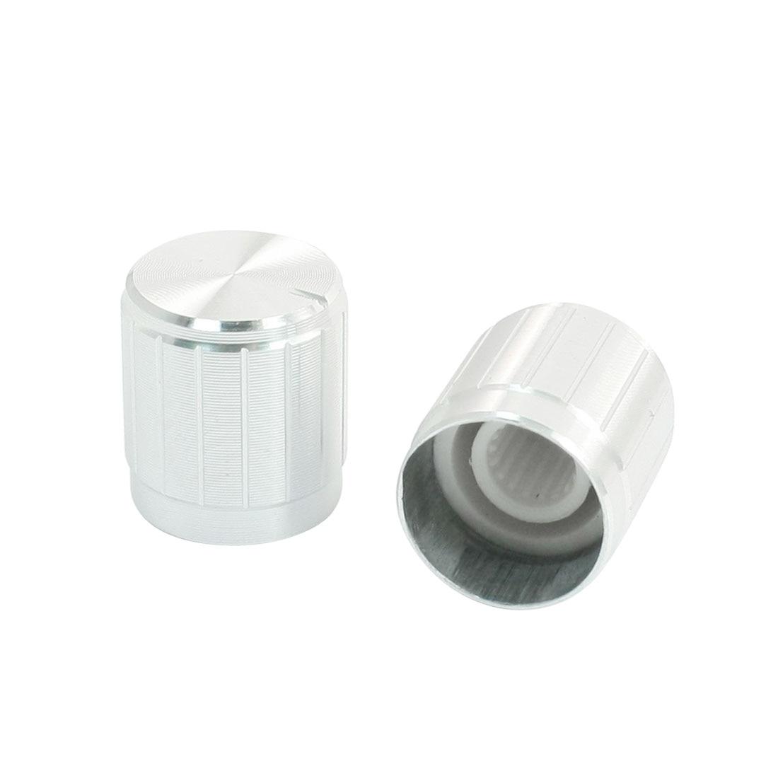 uxcell 30Pcs 6mm Shaft Insert Dia Non-slip Potentiometer Control Knobs Black 15 x 16mm