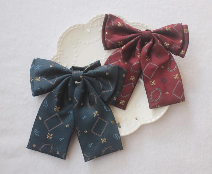 Aufstrebend Blume-de-luce Stickerei Gestreiften Adrette Britische Japanischen Schule Mädchen & Jungen Jk Einheitlichen Bogen Krawatte Krawatte Studenten Cosplay