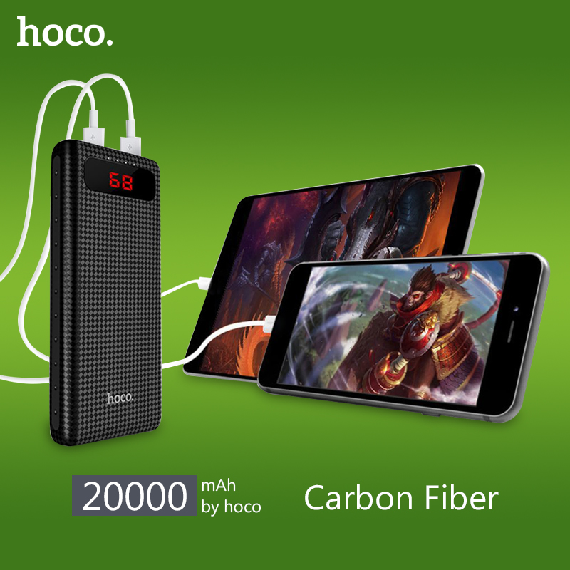 bilder für HOCO B20A energienbank 20000 mAh Dual USB Power 18650 Batterie Tragbares Ladegerät Externe Batteriebank für Handys