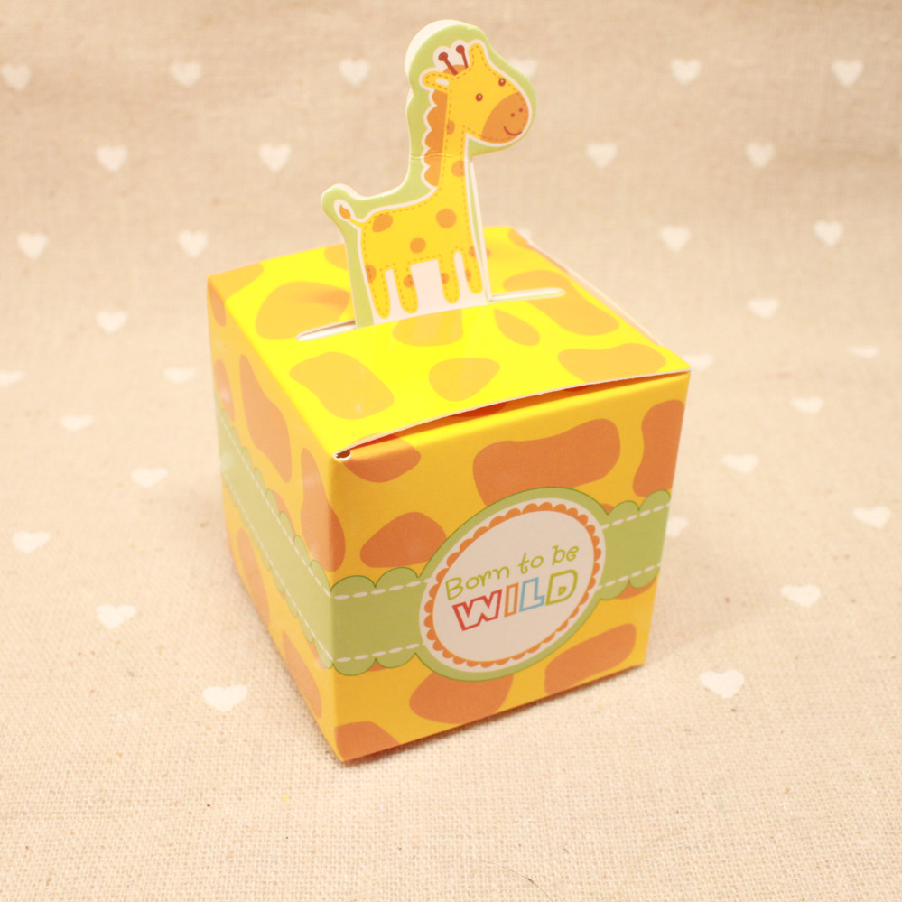 100pcs Free Shipping Giraffe Elephant Monkey Tiger Baby Shower