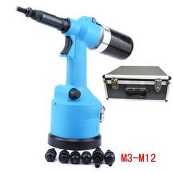M3M4M5M6M8M10M12 Voll Automatische Niet Mutter Pneumatische Riveter Pneumatische Hydraulische Ziehen Kappe Pistole Automatische Niet Mutter Pneumatische Werkzeug