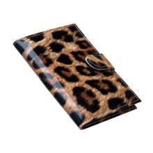 Unisex Fashion Leopard Pattern Travel Passport ID Card Cover Holder Waterproof Case Protector Organizer 14.2x9.8cm