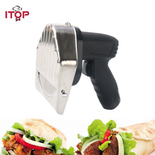 ITOP New Rechargeable Kebab Slicer Meat Cutting Machine For Shawarma Electric Gyros Cutter Kitchen Knives With 2 Blades