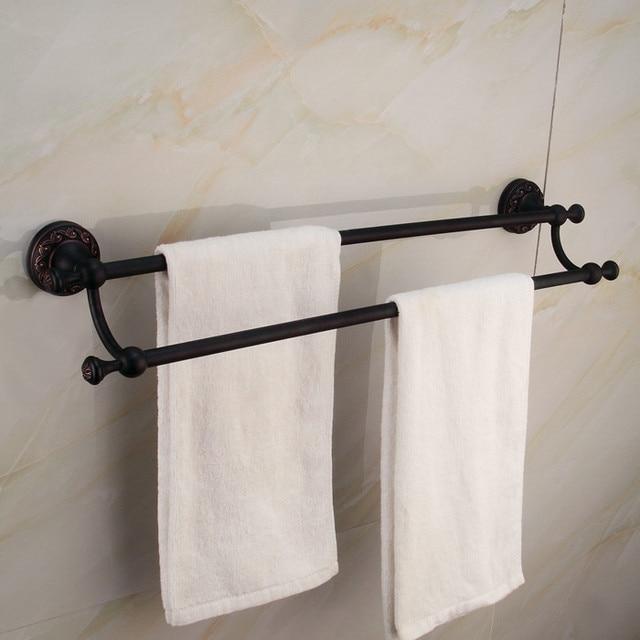 Black Towel Rack Set Cosmecol