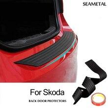 Для Skoda Octavia A5 A7 2 Fabia Yeti Rapid Superb B6 резиновые Арьергард Бампер Защитить Отделкой Пластина Scuff Подоконник Протектор потертости