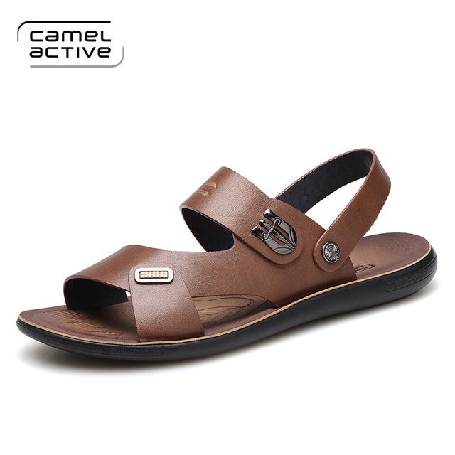 Camel Active New Summer Shoes Fashion Summer Sandals men Genuine Leather  Male Sandals Men Shoes Casual