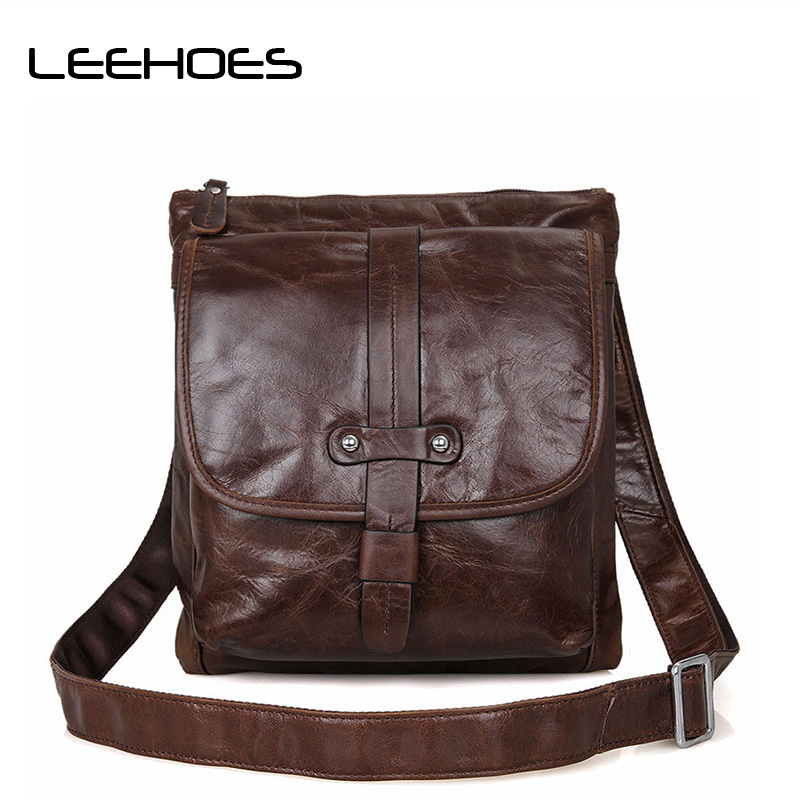 Real Soft Cowhide Leather Bag Business Men Bags Ipad Tote Briefcases Crossbody Bags Small Shoulder Handbag Mens Messenger Bag