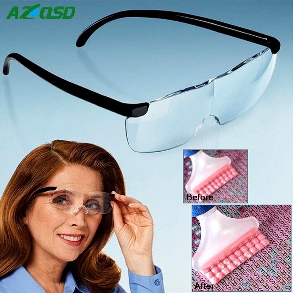 AZQSD herramientas de pintura de diamante lupa visión para hombre viejo Unisex vidrio de lectura ligero diamante mosaico Accesorios