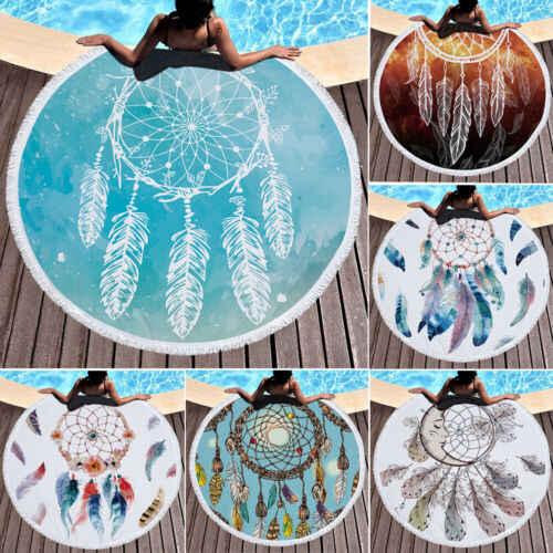 Indiano Rodada Roundie Mandala Lance Hippie Tapeçaria Tapete Toalha de Praia Bohemian Borlas Impressão Toalha de Praia Verão