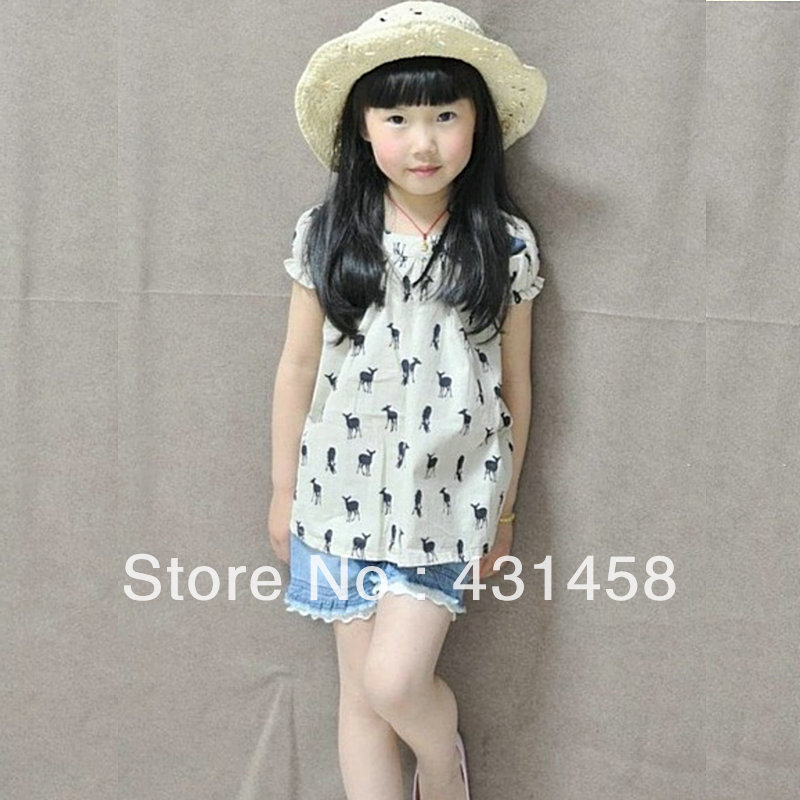 Free Shipping Cherokee Baby Summer One Piece Dress Bow Little Deer