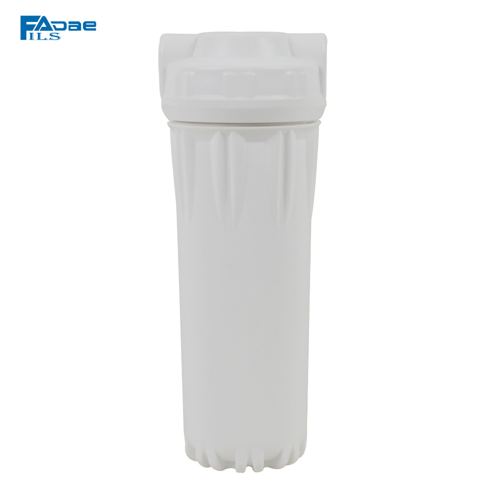Reverse Osmosis System Replacement Filter Housing 10 Slim Filter bottle/canister,white body and flat caps,1/4 in. inlet&outlet industrial vacuum pump intake filter in housing 2 rc inlet