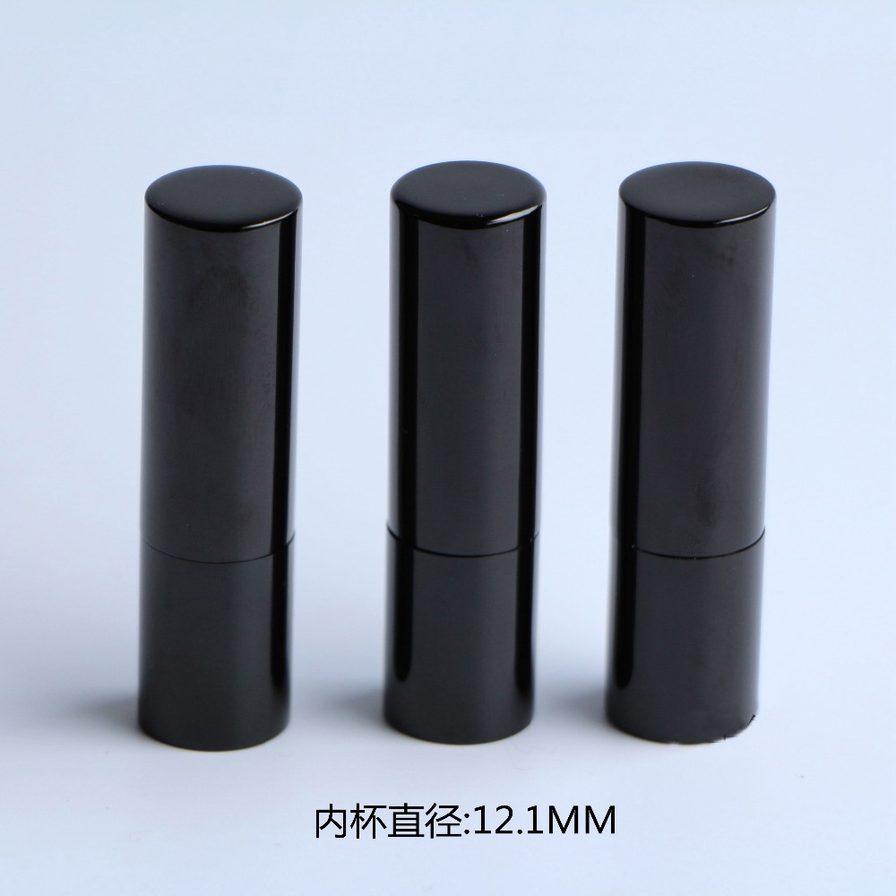 free shipping 12.1mm 10/20/50pcs/lot black rounded high-grade lipstick tube, empty lip balm container босоножки tom