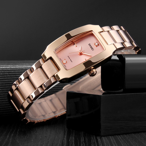 SKMEI Quartz Ladies Watches Fashion Luxury Stainless Steel Women Bracelet Watch Women Watches Waterproof Brand Relogio Feminino Islamabad