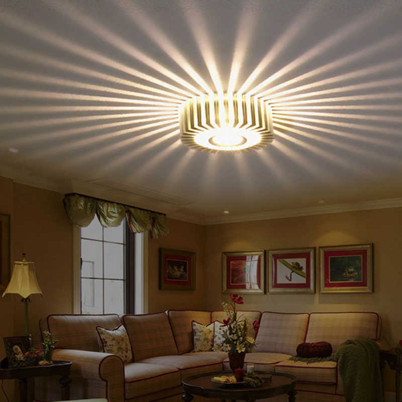 Home Led 3W Hal Licht Loopbrug Porch Decor Lamp Zon Bloem Creatieve Led Plafond Verlichting