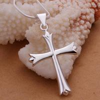 10PCS Silver Plated Fashion Jewelry Chains Necklace Silver Plated Pendant Cross Wholesale Prices