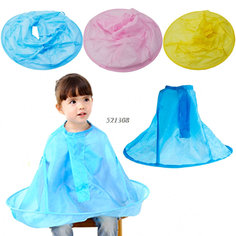 100% True Kids Hair Cutting Apron For Haircut With Steel Wire Cloak Clothes For Salon Hair Styling Accessory Baby Rib Cape Apron In Short Supply Accessories