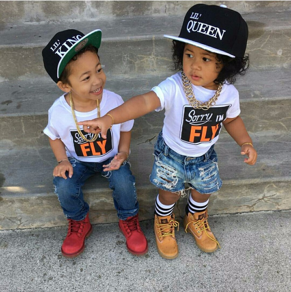 2017 New  Children king queen Letter Baseball Cap Kid Boys And Girls Bones Snapback Hip Hop Fashion Flat Hat 2 pieces each lot charmdemon 2016 embroidery cotton baseball cap boys girls snapback hip hop flat hat jy27